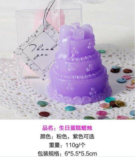 Торт свечи / фиолетовый