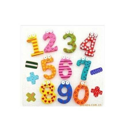 free shipping Set 15 Number Wooden Fridge Magnet Education Learn Cute Kid Baby Toy