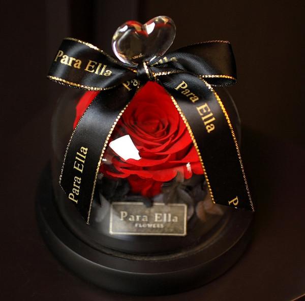 Rose Kit, unvergängliche Blume Rose Red BEST Geschenk für Valentinstag Geschenk Hochzeit, Jubiläum, Geburtstagsgeschenk
