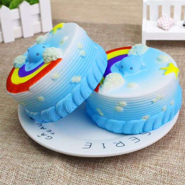 Squishy Cakes Cute Toy Cake Slow Rising Stress Reliever Toy Mid Autumn Halloween Christmas Birthday Gift Sand Stress Reliever Best Stress Reliever