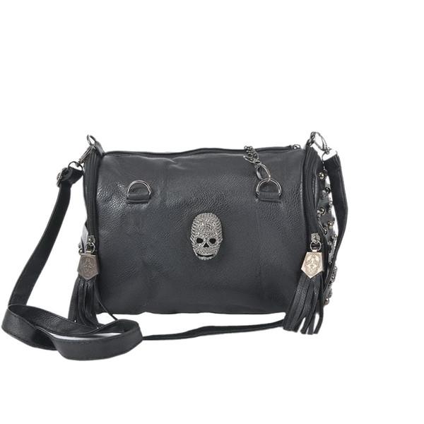 Stilvolle Schädel Frauen Tasche Niet Umschlag Mini Kupplung Dame Shopper Tote Retro Punk Schulter Crossbody Taschen für Frauen 2015 Sac Femme