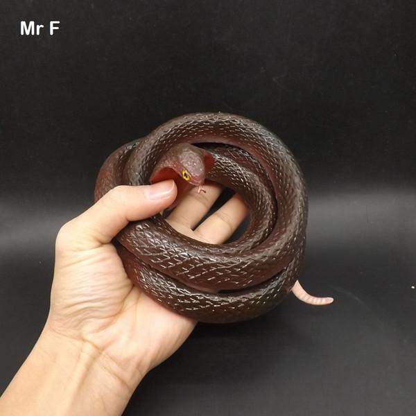 Acheter Fun Big Cobra Simulation Halloween Réaliste Doux Serpent En Caoutchouc Faux Animal Spoof Trick Joke Jouet Enfants De 20 1 Du Skyyongchao