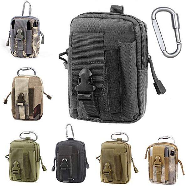 Poche tactique Molle EDC compact 1000D polyvalent utilitaire ceinture sac de taille avec support de téléphone cellulaire holster