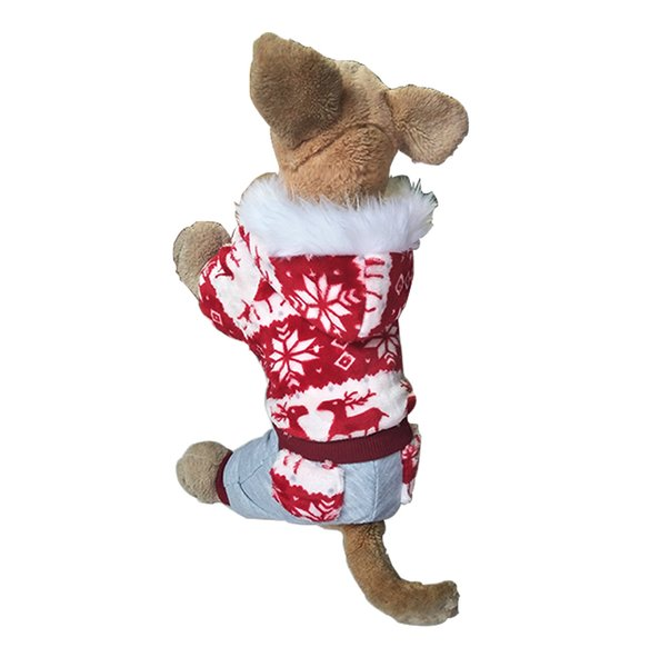 Pet Dog Christmas Clothes Winter Pet Dog Clothes Reindeer Snowflake Warm Coral Fleece Jacket For Small puppy Dogs/cat Coat Hoodies