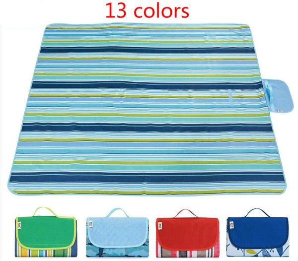 Spring Picnic Mat Camping Moisture-proof pad Outdoor Beach Mat Waterproof Oxford cloth Tent pads Family Tour Plaid Mattress High-quality