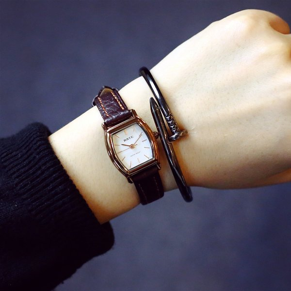 Wrist Watch Woman Waterproof Student Korean Concise Small Clock Dial Mini- Cask Small Square 2017 New Pattern Fashion Temperament