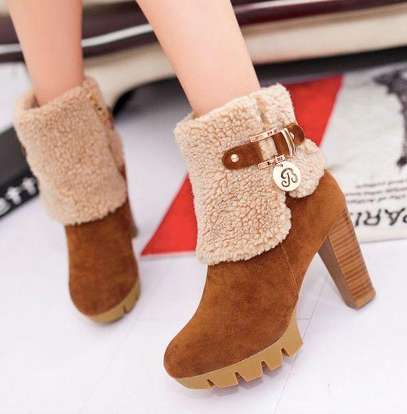 коричневые ботинки женщин