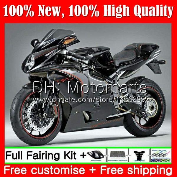 Body For MV Agusta F4 05 06 R312 750S 1000 R 750 1000CC Black silver 13MT10 1000R 312 1078 1+1 MA MV F4 2005 2006 05 06 Fairing Bodywork