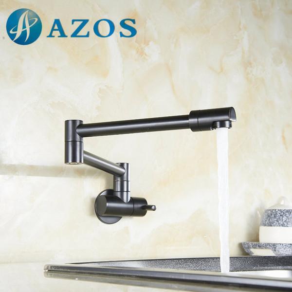Folding Swing Pot Filler Articulating Basin Tap Wall Mount Kitchen Faucet Oil Rubber Bronze,Nickel Brush, Chrome Polish DLCF002Z