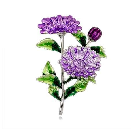 a1b42cde1 Flower Brooch Fashion Bouquet Clothing Backpack Pins Enamel Corsage Badge  Icons Dress Coat Accessories W77