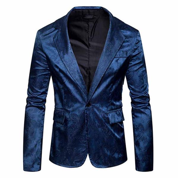 6 Colors Men's Sophisticated Blazer Suit Floral Print Single Button Modern Slim Men Suit Casual Formal Tuxedo For Men