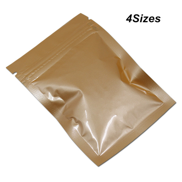 Multiply Sizes Glossy Orange Aluminium Foil Mylar Material Zip Lock Packaging Bag Mylar Foil Resealable Reusable Zipper Storage Pack Pouches