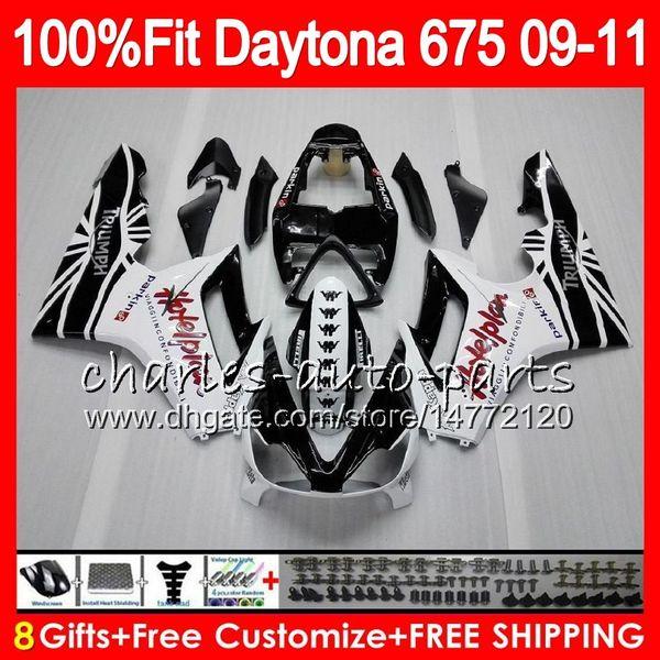 Factory black Injection For Triumph Daytona 675 09 10 11 12 Bodywork 107HM.14 Daytona-675 Daytona675 Daytona 675 2009 2010 2011 2012 Fairing