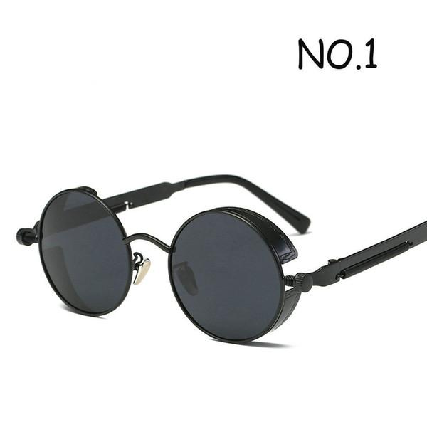 Rodada óculos de sol de metal steampunk homens mulheres moda óculos de marca  designer retro vintage 46fdbec943