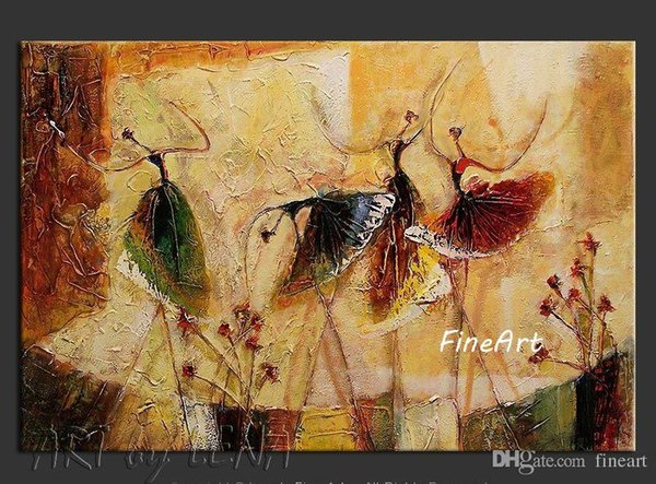 handmade canvas abstract ballet dancers oil painting dance modern fashion wall painting wall decor canvas unique gifts Kungfu Art
