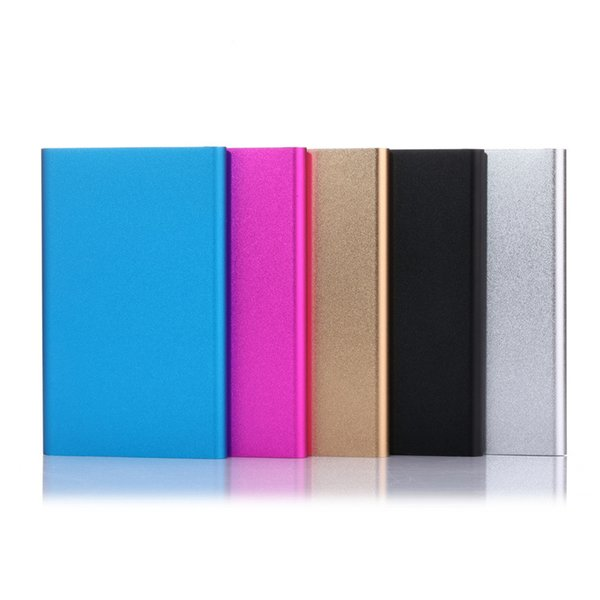top popular Ultra Slim Portable Power Bank batteries Powerbank For Note 10 Plus External Battery Charger Backup 18650 power bank With Package 2019