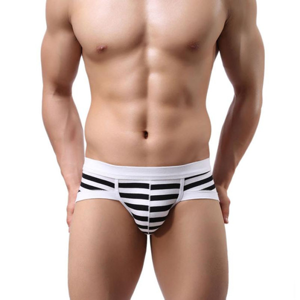 HotSelling New Mr Fashion Sexy colorful Stripe Cotton Men's Boxer Shorts Large Genuine Breathable Mans Underwear Male Underpant