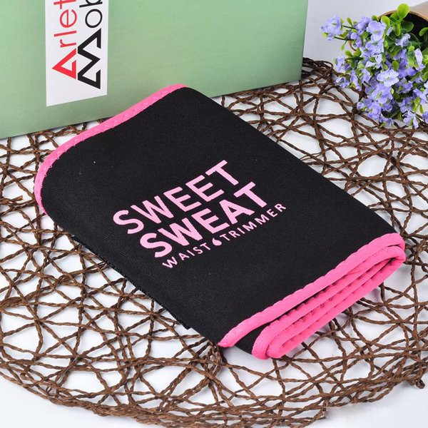 top popular 2018 New arrival !!! 3 Colors 3 sizes sweet sweat premium waist trimmer unisex belt slimmer exercise waist wrap with retail package DHL 2020