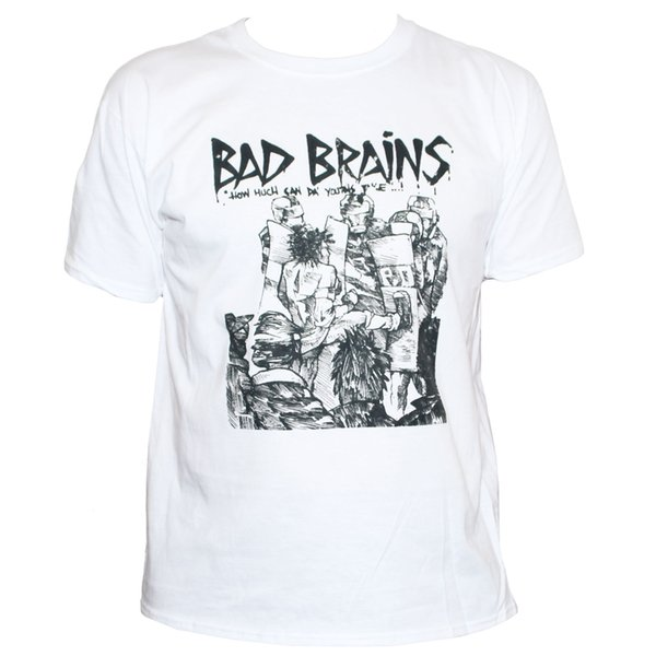 58913b32 BAD BRAINS T SHIRT Punk Rock Fugazi Minor Threat Fishbone Band Graphic Tee  Men/ Tee