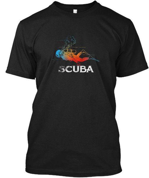 Gif da máscara do mergulhador T do mergulho autóni T-shirt de T de Hanes Tagless