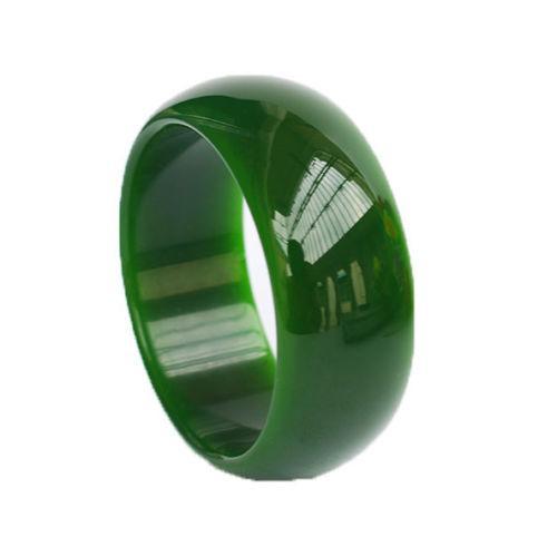 Natural Beautiful Jadeite Jade Bangle Bracelet Handmade wide 56mm--62mm