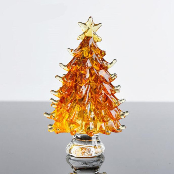 Crystal Christmas Tree star Figurines Paperweight Crafts Art&Collection Table Car Ornaments Souvenir Home Decor Wedding Gifts