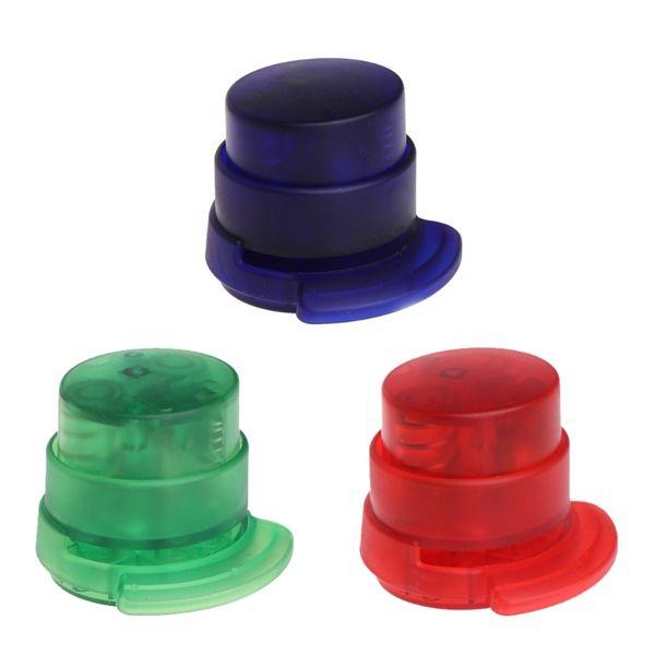 1 X Staple-Free Stapler Novelty Clear Staple-Free Stapler Paper Binding Binder School Office Supplies New