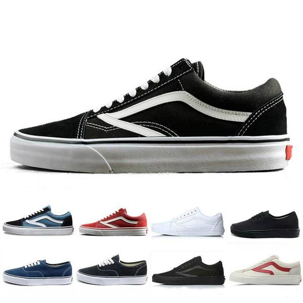 Vanss Original old skool zapatos casuales negro azul rojo Clásico hombres mujeres lienzo zapatillas moda Cool Skateboarding skate casual 36-44