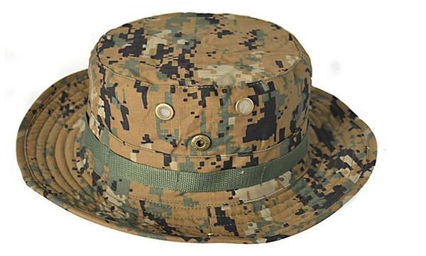 Sommer Eimer Hüte, Airsoft Sniper Camouflage Hüte, taktische Paintball Boonie Hüte, Outdoor Caps Großverkauf der Fabrik, freie Größe 59-60cm