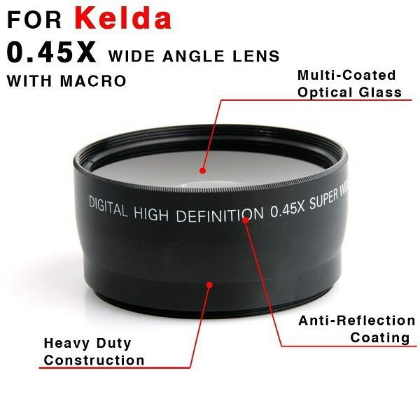 58MM 0.45x Wide Angle Lens + Macro Lens for Canon EOS 500D/ 1000D/ 550D/ 60 and Nikon Sony cameras with 58mm Filter Thread
