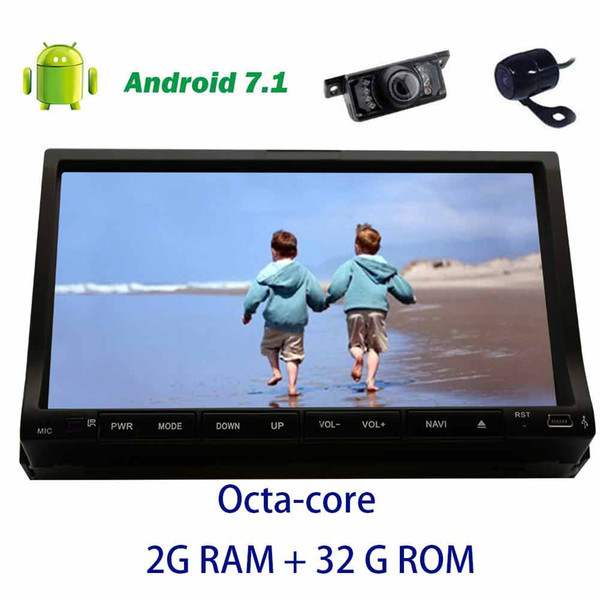 Front&Backup camera+Car dvd Stereo Double din Android 7.1 Octa-core Headunit in Dash Autoradio on-board computer GPS Navigation Auto Audio