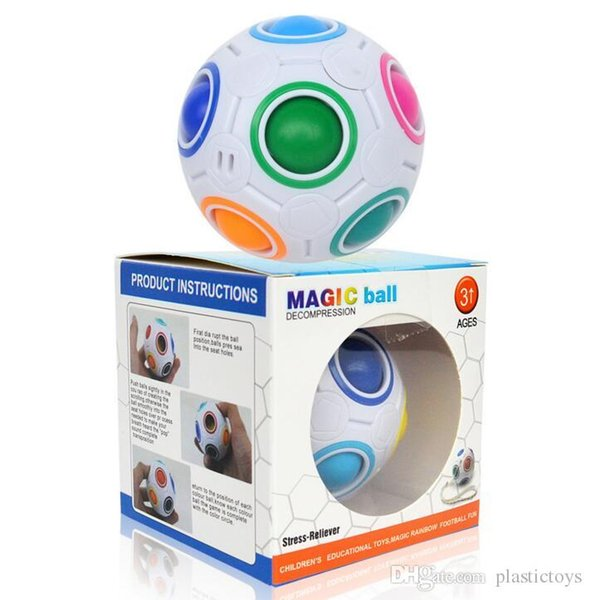 Cube Rainbow Ball Cube Speed Football Fun Creative Ball Puzzle Child Education Learning Children Toys Games Adult Gifts Free Shipping