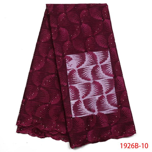 Última tela nigeriana del cordón africano 2018 del cordón del estilo con la tela bordada de alta calidad del cordón de las piedras para el vestido XZ1926B-2 de las mujeres