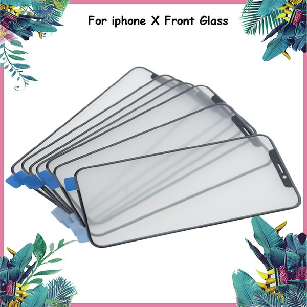 Grade A+++ Quality Black LCD Touch Screen Front Outer Glass Lens Replacement for iPhone X Outer Glass Screen Repair Parts