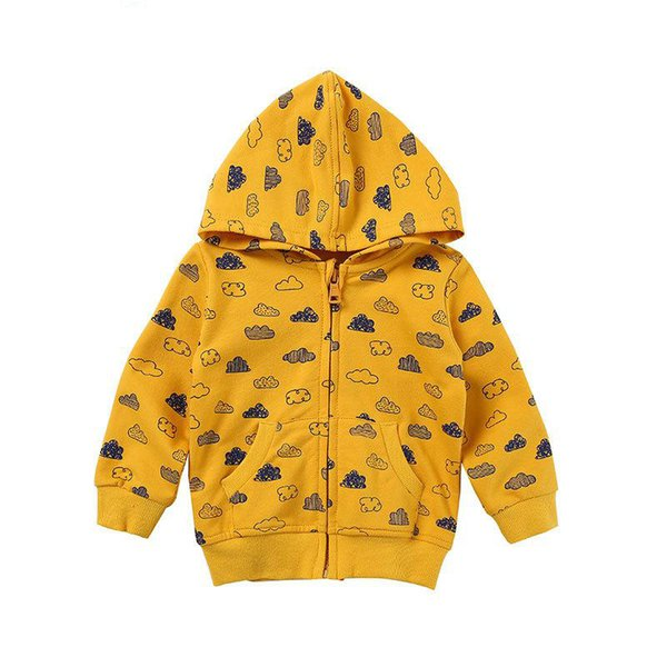 Morningtwo Newly 2018 Girls Jacket Cotton Printed Fabric Long Sleeves Hoodies Coats Fashion Casual Autumn Clothes For Girl
