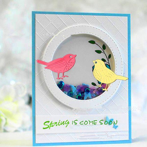 Craft Dies Bird 2pcs/set birdie Cutting dies for Cards Scrapbooking and Paper Crafts Embossing folder DIY paper craft Machines
