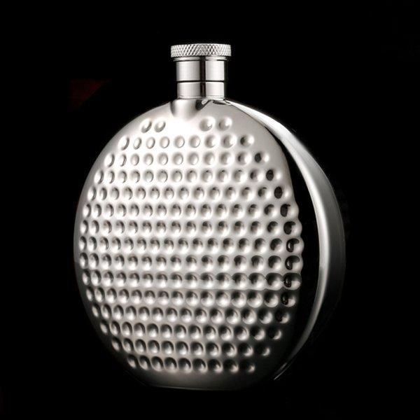 SıCAK Satmak Paslanmaz Çelik Cep Şişesi Taşınabilir Cep Şişesi Cep Yuvarlak Flask Outdoors Drinkware iyi hediye 6 Oz