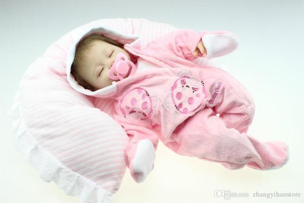 simulazione 18inches realistica reborn silicone morbido vinile vero tocco bambola neonato