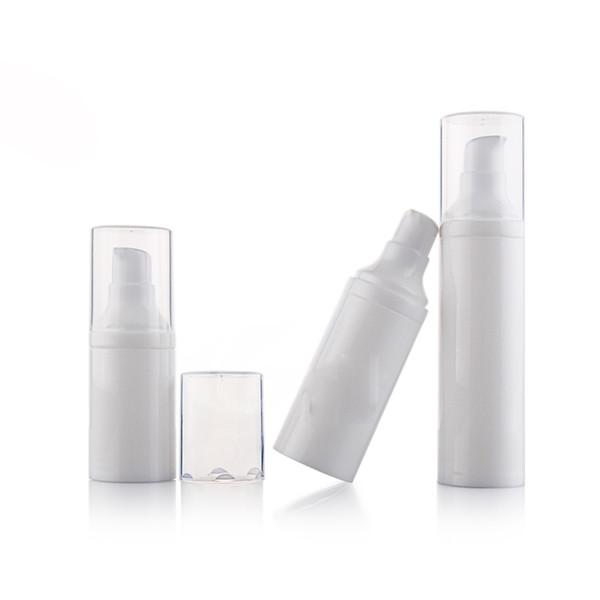 (30pcs / lot) bottiglia bianca della pompa dell'emulsione di vuoto 50ml Bottiglia cosmetica di imballaggio di viaggio portatile Vendita calda