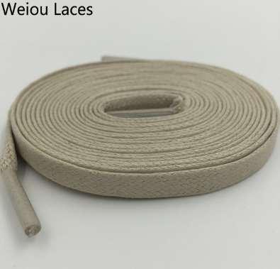 Weiou Hot 8mm Larghezza Lacci cerati piatti Lacci larghi in cotone colorati Lacci corde unisex impermeabili per scarpette in pelle