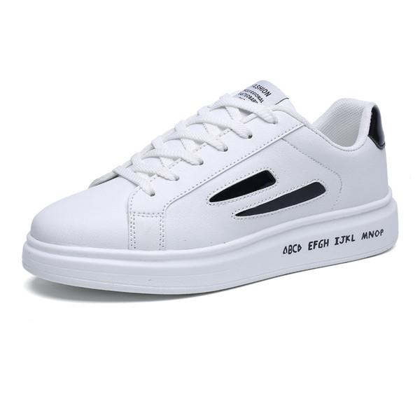 mejor autentico precio competitivo gran calidad Compre Aumentar 6cm Mens Casuales Zapatos De Cuero Blanco Hombres  Zapatillas Blancas Plataforma Transpirable Hombre Zapatos De Cuero Hombre  Absorción ...