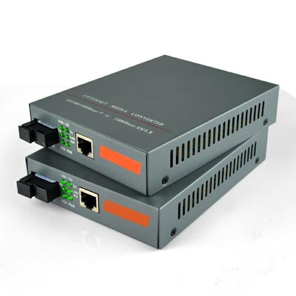 1pair Gigabit Fiber Optic Media Converter 1000Mbps Singlemode Single Fiber SC Port 20KM Internal Power Supply