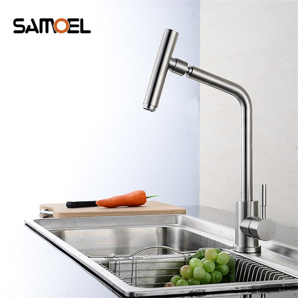High Quality 304 stainless steel no lead Kitchen sink Faucet Sink Tap 360 Swivel Mixer Kitchen faucet