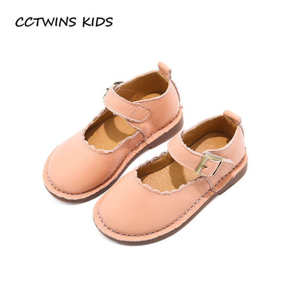 CCTWINS KIDS 2018 Spring Toddler Genuine Leather Shoe Fashion Pink Princess Party Flat Baby Girl Children Black Mary Jane G1658
