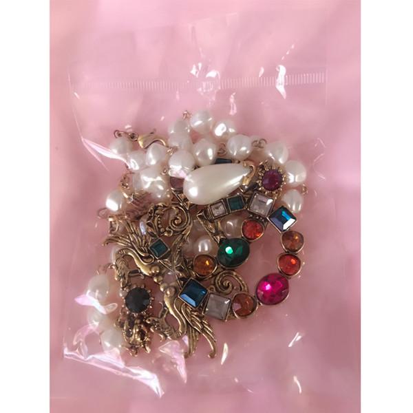 Collana del pendente di marca del nuovo progettista di arrivo Donne Retro lusso G Dichiarazione di stile Regalo di Neckalce per amore Monili famosi di marca