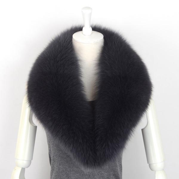 Natural Color Raccoon Fox Real Fur Collar Scarf Genuine Winter Warm Scarves Warp Shawl Neck Warmer Stole Muffler with Clip NC10
