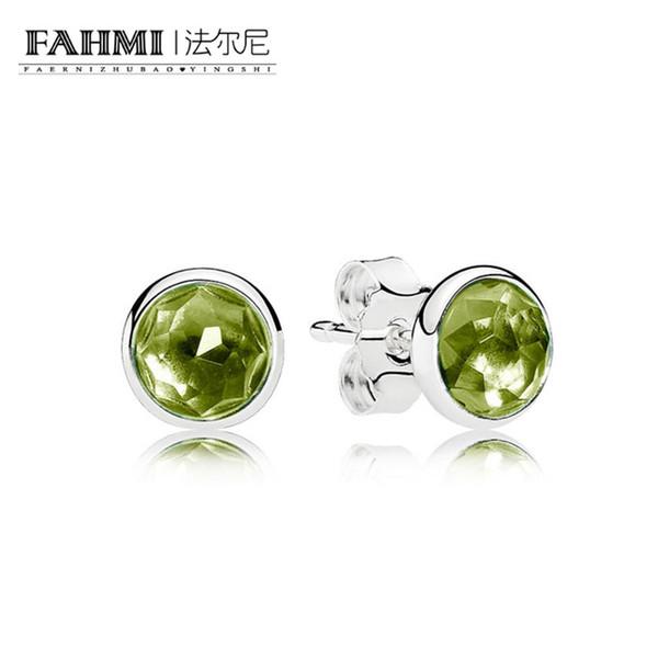 FAHMI 100% Sterling silver 1:1 Glamour 290738PE AUGUST DROPLETS EARRING STUDS Original Women wedding Fashion Jewelry 2018
