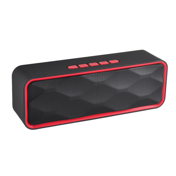 SC211 Portable Wireless Bluetooth speaker Outdoor Double horn Subwoofer Audio Support TF Cars FM Radio USB