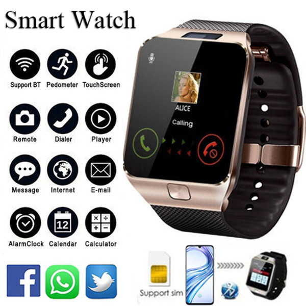 Montre Smart Watch DZ09 avec fente pour carte SIM Message Message Connectivité Bluetooth Téléphone Android Meilleur que les autres montres Smartwatch pour hommes