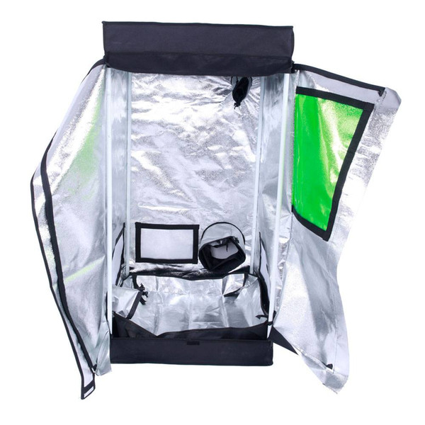 60 X 60 X 120cm Home Detachable Hydroponic Plant Growing Tent Green And Black